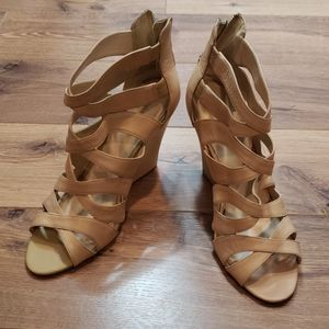Nine West Wedges with Zip up back